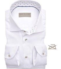 john miller overhemd stippen contrast cutaway stretch tailored fit