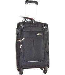 espectacular maleta pequeña 20 pulgadas cabina 4 ruedas 360º lona - negro