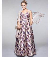 morgan & company juniors' printed brocade gown
