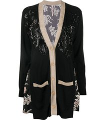 antonio marras oversized sequined cardigan - black
