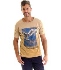 camiseta kassis estonada bege - bege - masculino - algodã£o - dafiti