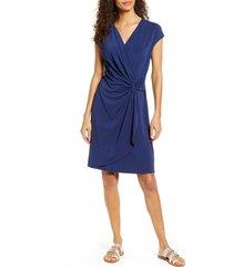 women's tommy bahama carmela faux wrap dress, size small - blue