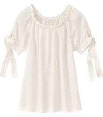 carmen blouse van tencel™ vezels, natuurwit 40