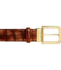 pakerson designer men's belts, ripa wood alligator leather belt w/ gold buckle