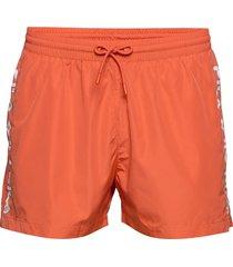 men sho swim shorts badshorts orange fila
