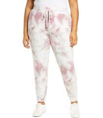 plus size women's adyson parker tie dye joggers, size 3x - purple
