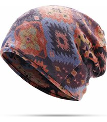 donna beanie skullies in cotone a doppio strato antivento bonnet e sciarpa