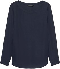 blusa rew high low tee solids azul banana republic