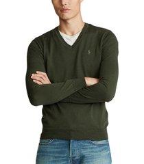 sweater slim washable merino verde polo ralph lauren