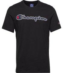 crewneck t-shirt t-shirts short-sleeved blå champion