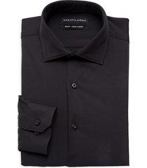 saks fifth avenue men's trim-fit dress shirt - black - size 16.5 32