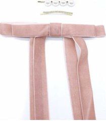 women's ribbon hair clip set
