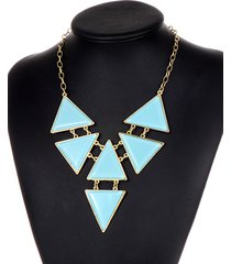 collar azul triangulo sasmon cl-13259