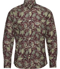 layne button down shirt skjorta casual röd morris