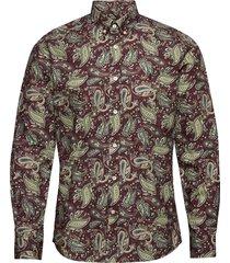 layne button down shirt skjorta casual röd morris
