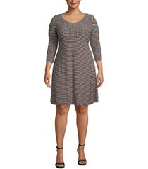 anne klein plus size dot-print fit & flare dress