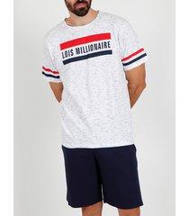 pyjama's / nachthemden admas for men pyjama kort t-shirt millionnaire lois wit admas