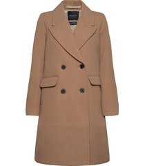 slfsassy wool coat b wollen jas lange jas bruin selected femme