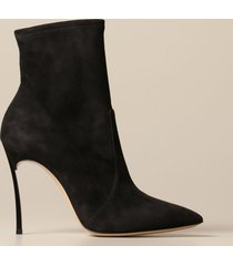 casadei heeled booties casadei blade ankle boot in suede