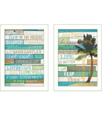 """trendy decor 4u live in the present collection by marla rae, printed wall art, ready to hang, white frame, 10"""" x 14"""""""