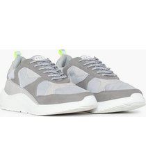 river island chunky sole runner sneakers grey