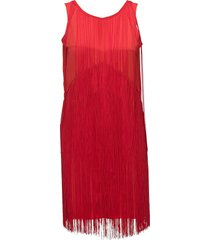 clair fringe dress kort klänning röd twist & tango