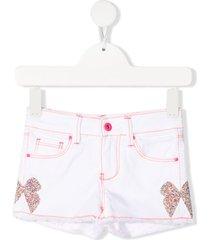 billieblush bow-detail two-tone shorts - white