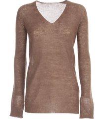 parosh mohair sweater l/s v neck