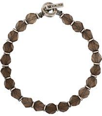 m. cohen the axiom beaded bracelet - grey