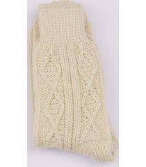 cream aran socks medium / large