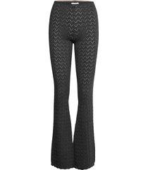 vicky trousers broek met wijde pijpen zwart odd molly
