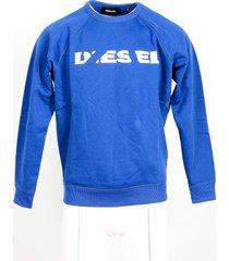 diesel designer sweatshirts, bright blue cotton men's sweatshirt