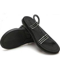 sandalias de hombre casual verano-negro