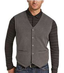 joseph abboud gray diamond knit vest