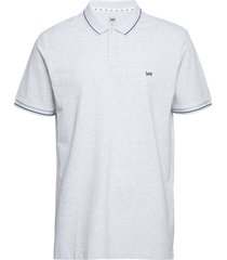 pique polo polos short-sleeved vit lee jeans