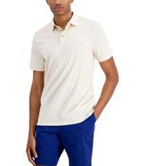 calvin klein men's liquid touch dot jacquard polo shirt