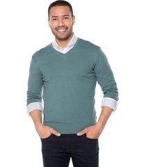 sweater verde 11 preppy m/l c/v tejido delgado
