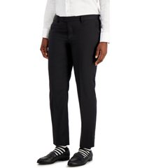 kirrin finch menswear-inspired black dress pants