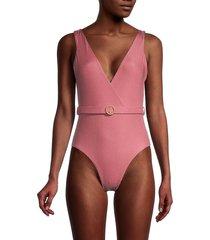 onia women's michelle one-piece swimsuit - dusty rose - size xs