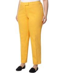 anne klein plus size bowie straight-fit pants
