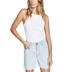 cotton on high rise miley denim shorts