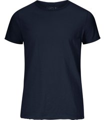 t-shirt basic round neck tee slub jersey