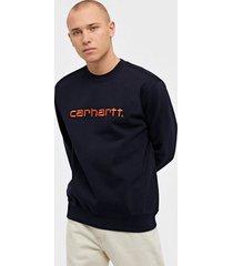 carhartt wip carhartt sweat tröjor dark navy