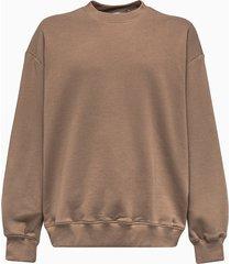 mouty crew neck sweatshirt in beige cotton