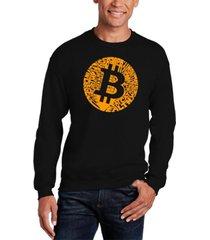 la pop art men's bitcoin word art crew sweatshirt