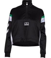 hmlclara half zip jacket sweat-shirt tröja svart hummel hive