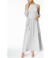 j kara beaded gown with shawl