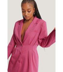 na-kd classic figursydd blazer - pink