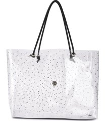 philipp plein statement shopper tote - neutrals