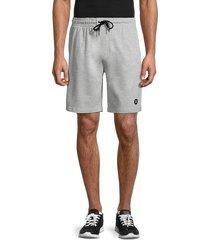 hurley men's logo lounge shorts - grey - size l